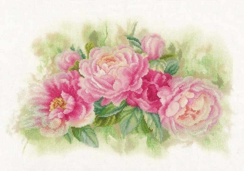 PN-0170933 Bouquet of peonies (Lanarte)