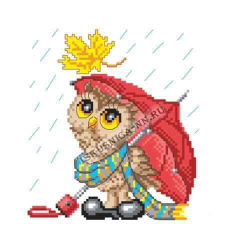 м8186 Сова под зонтом