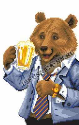м8184 Медведь с пивом