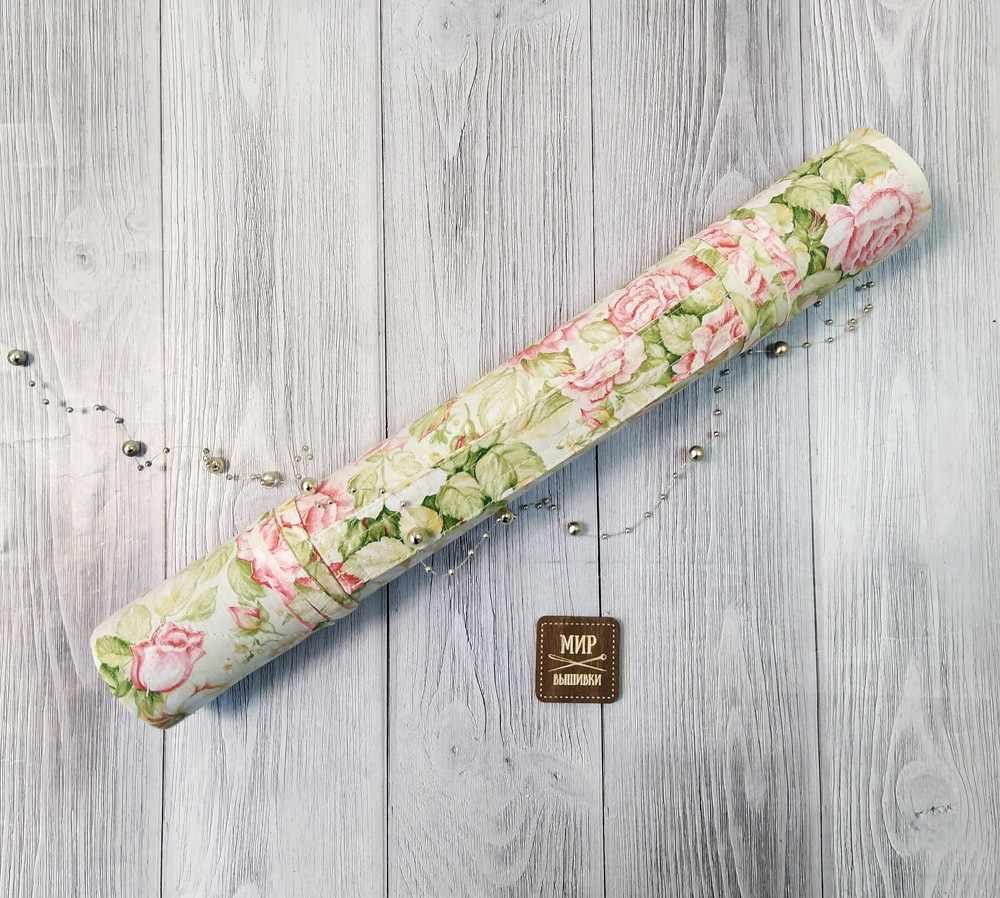 Розы, зеленый - ролл для вышивки