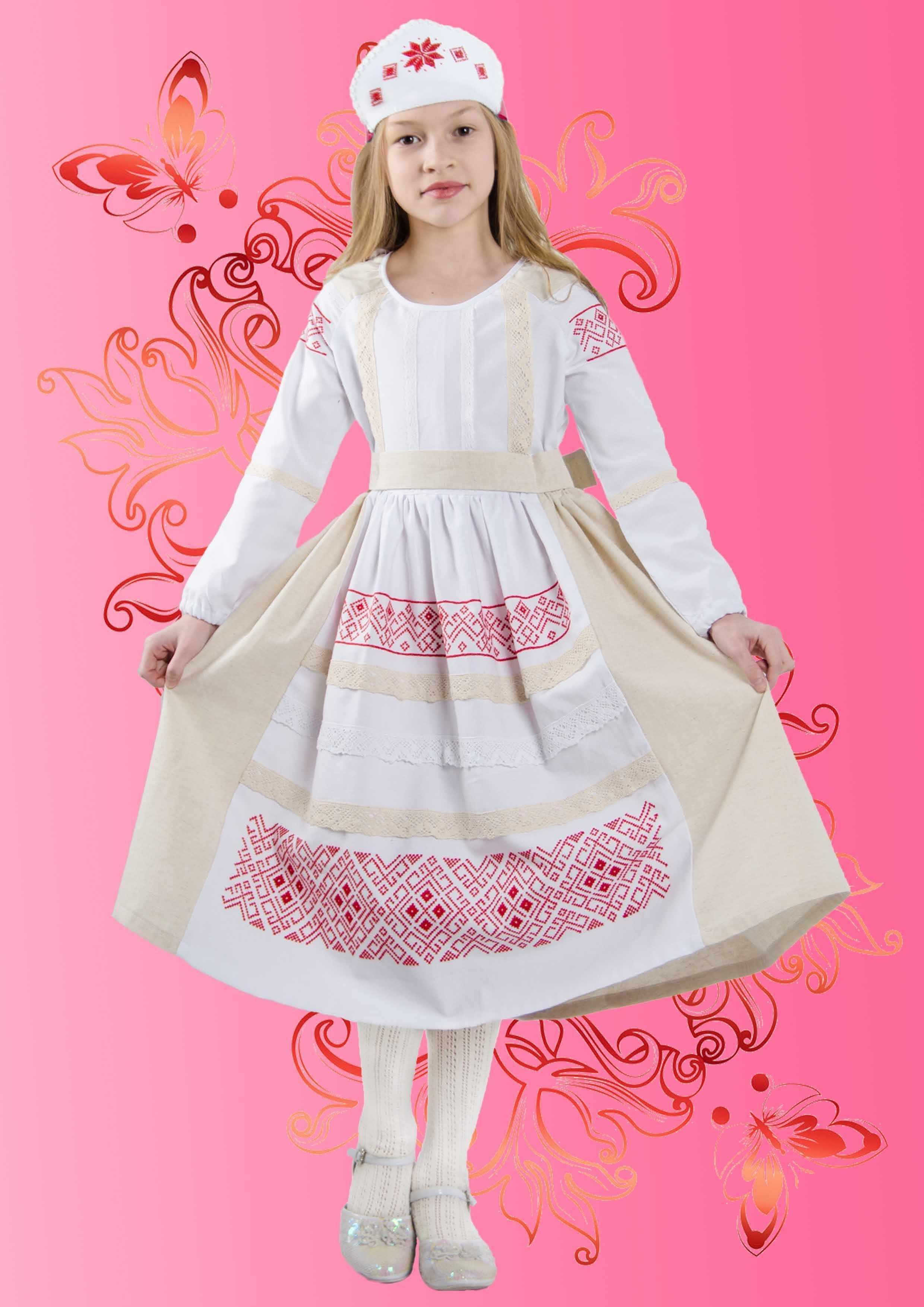 """КДПН-03 """"Берегиня"""" 134-146  р-р набор для вышивки детского платья"""