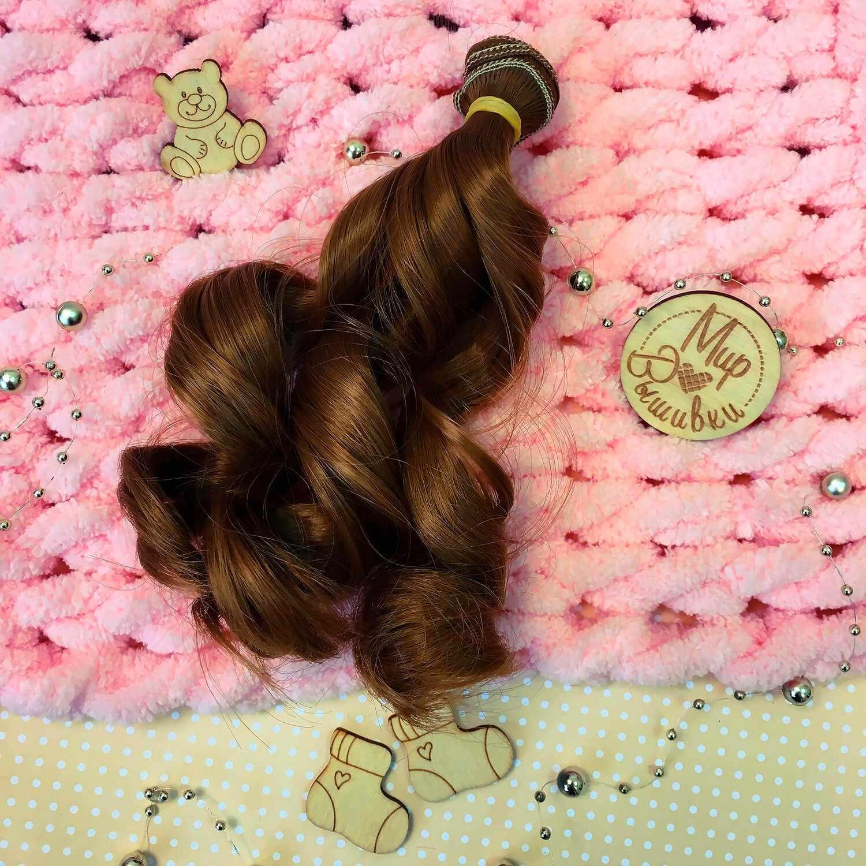 Волосы локон, 15 см цвет №22