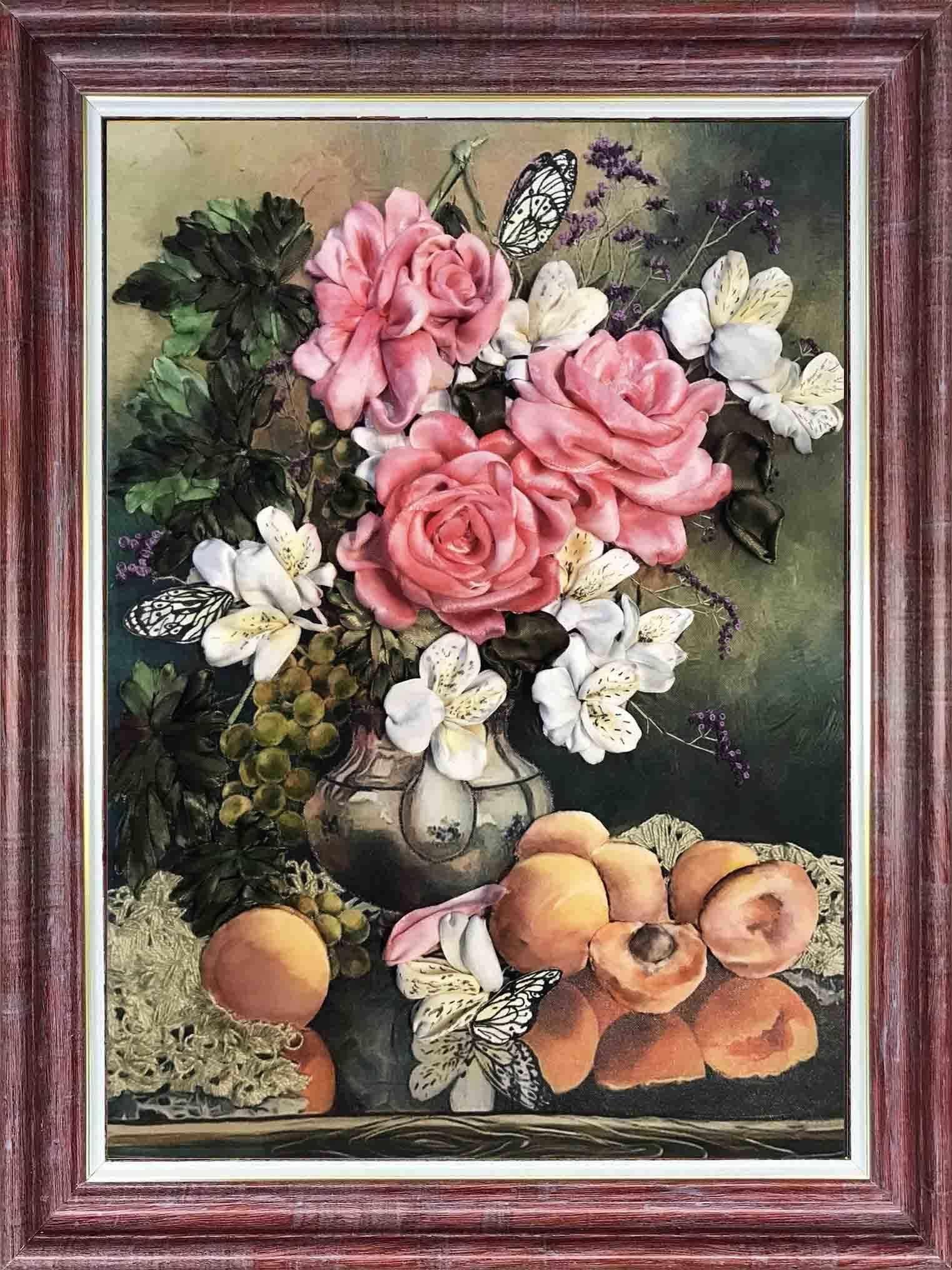 КЛ(н) 3015 Розы с фруктами - набор (Каролинка)