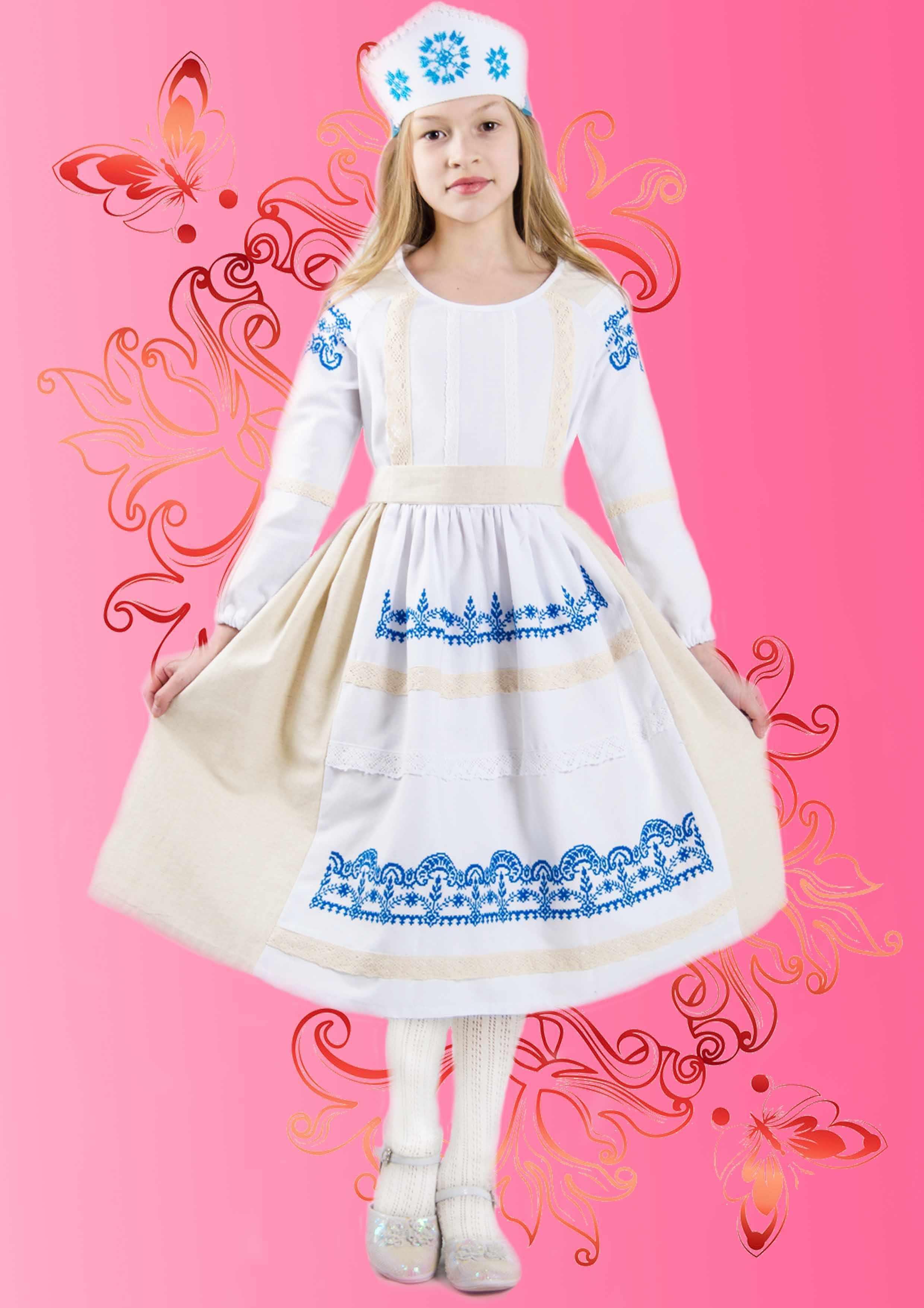 """КДПН-04 """"Зимняя сказка"""" 134-146 р-р набор для вышивки детского платья"""