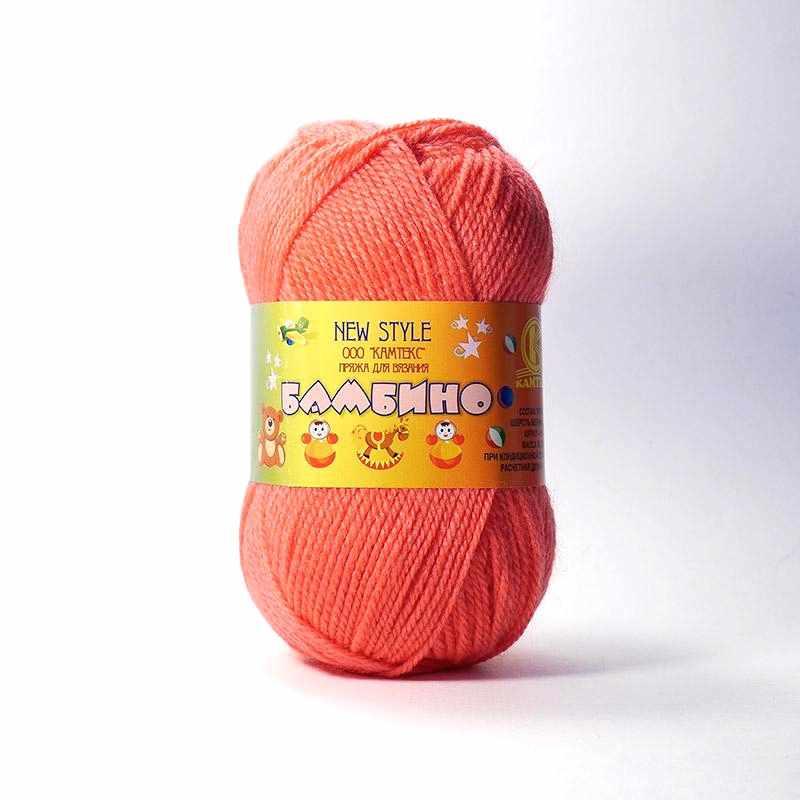 Пряжа Камтекс Бамбино Цвет.116 Коралл неон