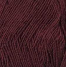 Пряжа  Бисерная Цвет.323 Темный бордо