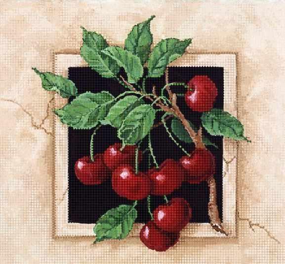 ТА-377 - Спелые вишни - схема для вышивания (Tela Artis)