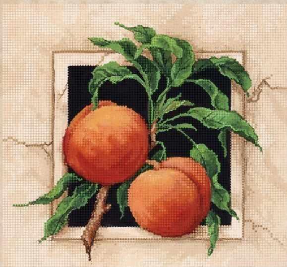 ТА-379 - Спелые персики - схема для вышивания (Tela Artis)