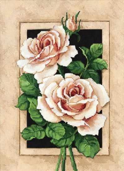 ТА-382 - Винтажные розы - схема для вышивания (Tela Artis)