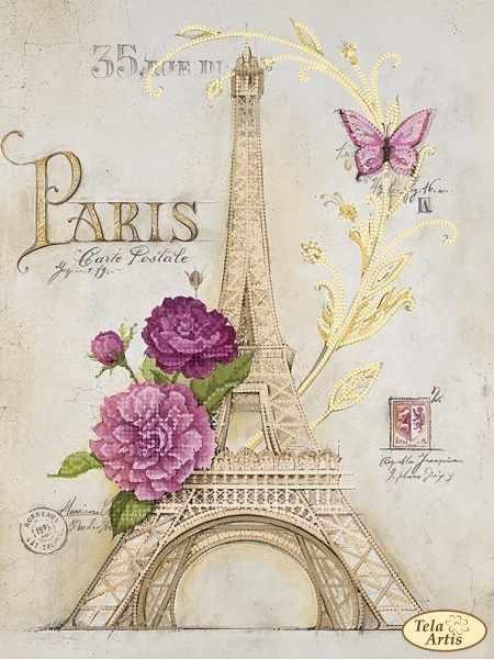 ТА-397 - Из Парижа с любовью - схема для вышивания (Tela Artis)