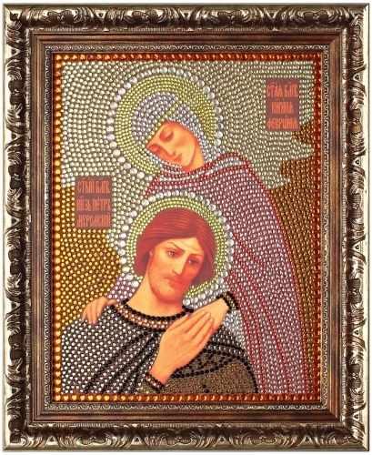Алмазная вышивка 0058/1 Святые Петр и Феврония - картина стразами (Преобрана)