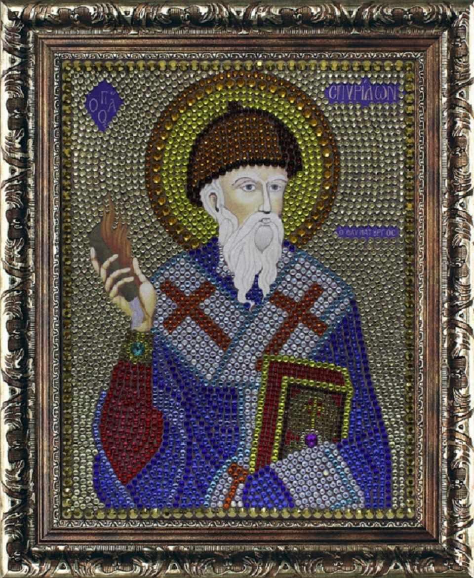 Алмазная вышивка 0068/1 Спиридон Тримифунтский - картина стразами (Преобрана)