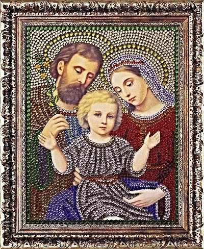 Алмазная вышивка 0069/1 Святое Семейство - картина стразами (Преобрана)