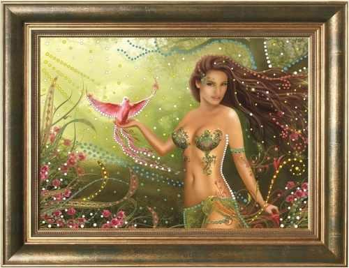 Алмазная вышивка 0104/1 Райская птица - картина стразами (Преобрана)