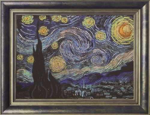 Алмазная вышивка 0116/1 Звездная ночь - картина стразами (Преобрана)