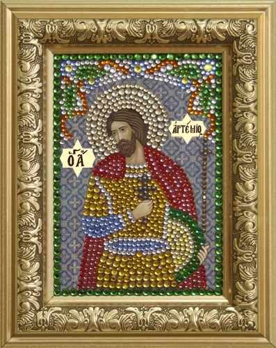 Алмазная вышивка 0303/1 Святой великомученик Артемий - картина стразами (Преобрана)