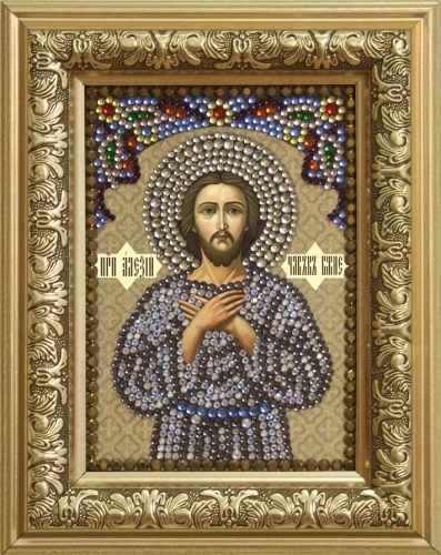 Алмазная вышивка 0304/1 Преподобный Алексий, человек Божий - картина стразами (Преобрана)