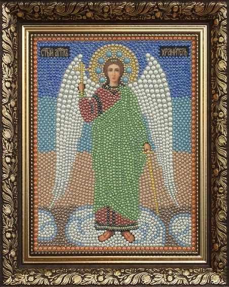 Алмазная вышивка 1П057/1 полужемчуг Ангел - картина стразами (Преобрана)