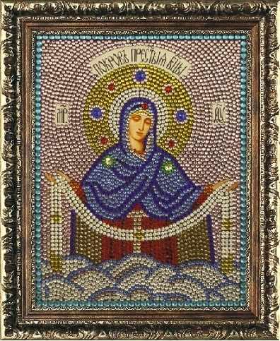 Алмазная вышивка 0066/1 Покров Пресвятой Богородицы - картина стразами (Преобрана)