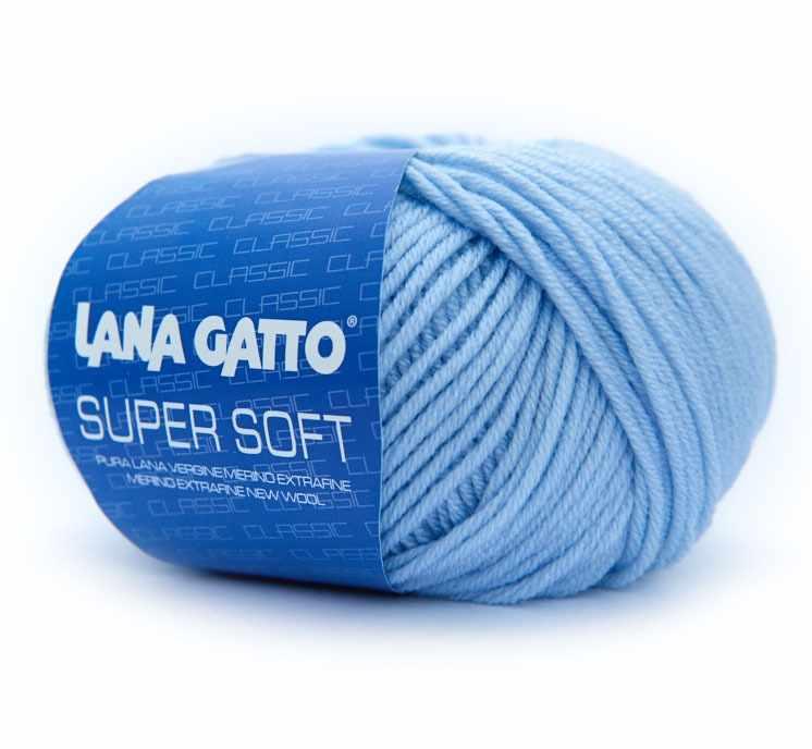 Пряжа Lana Gatto SUPER SOFT Цвет.12260 св.голубой