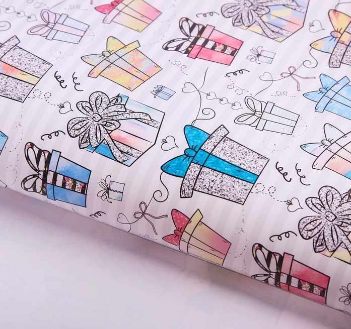 2739454 Бумага упаковочная глянцевая «Подарочки»
