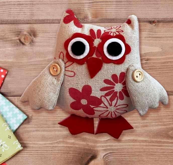 """3441962 Набор для создания подвесной игрушки из ткани """"Совушка в цветочек"""""""