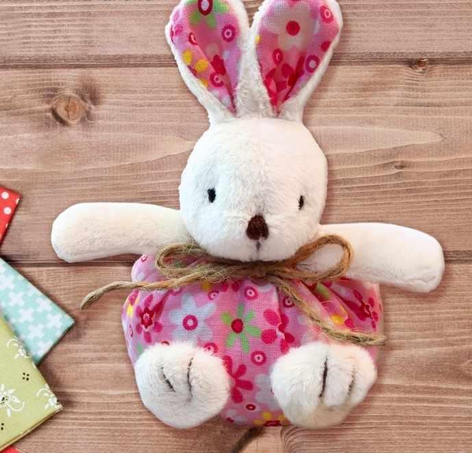 """3441949 Набор для создания подвесной игрушки из меха """"Зайчик"""", цвет розовый"""