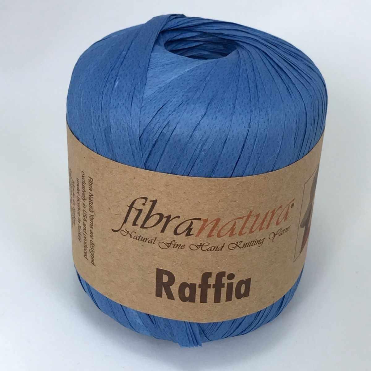 Пряжа Fibra Natura Raffia Цвет.116-13 василек