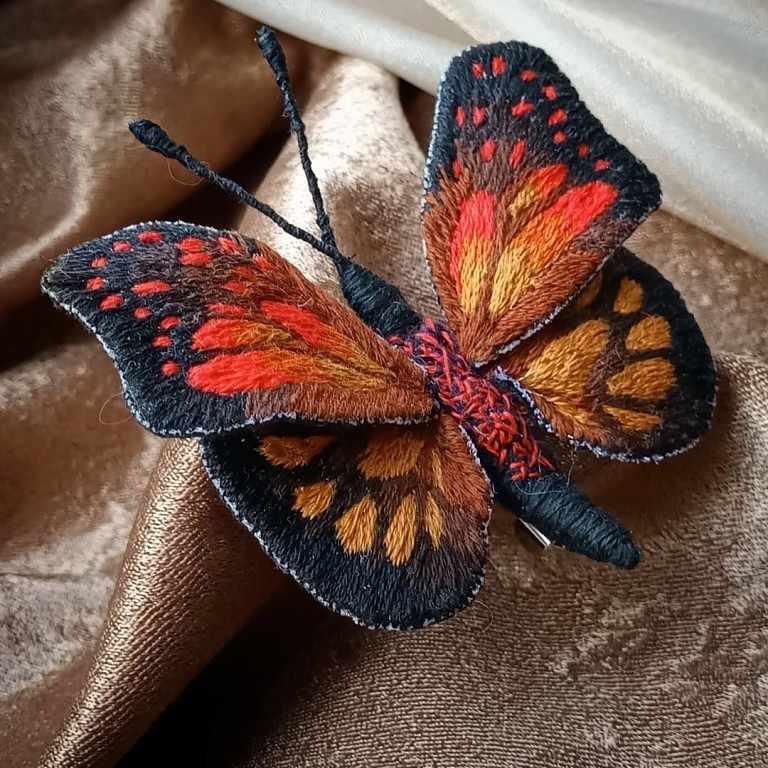 "Брошь бабочка ""Карамболина"" - набор"