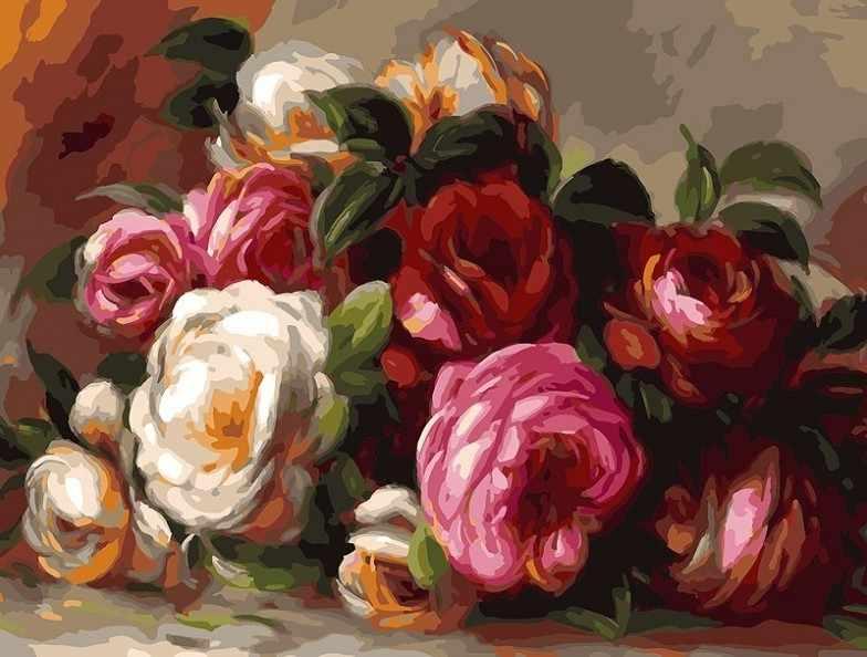 316-AS Розы Ренуара (Белоснежка)