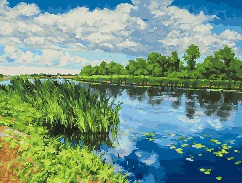 281-AS У реки - раскраска (Белоснежка)