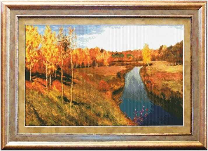 1401 Золотая осень - набор для вышивания (Юнона)