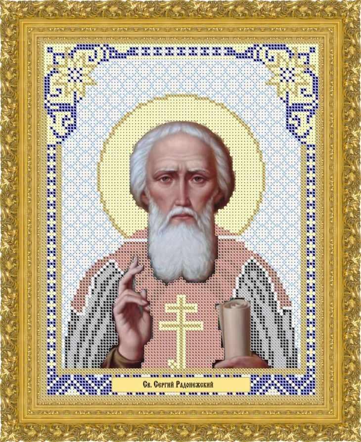 КАЮ2029 Св. Сергей Радонежский - схема для вышивания (Матрёшкина)