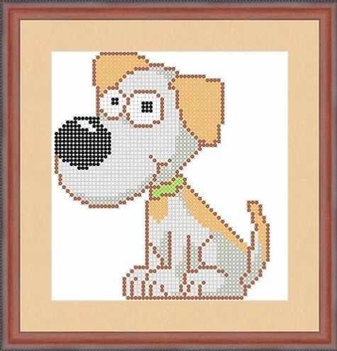 КАЮ5003 Собачка - схема для вышивания (Матрёшкина)