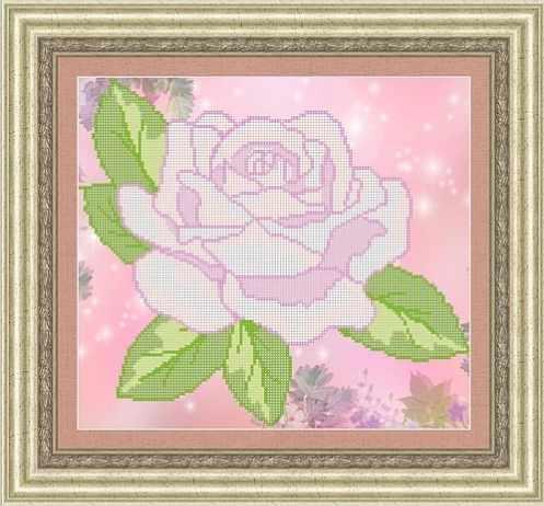 КАЮ3027 Розовая роза - схема для вышивания (Матрёшкина)