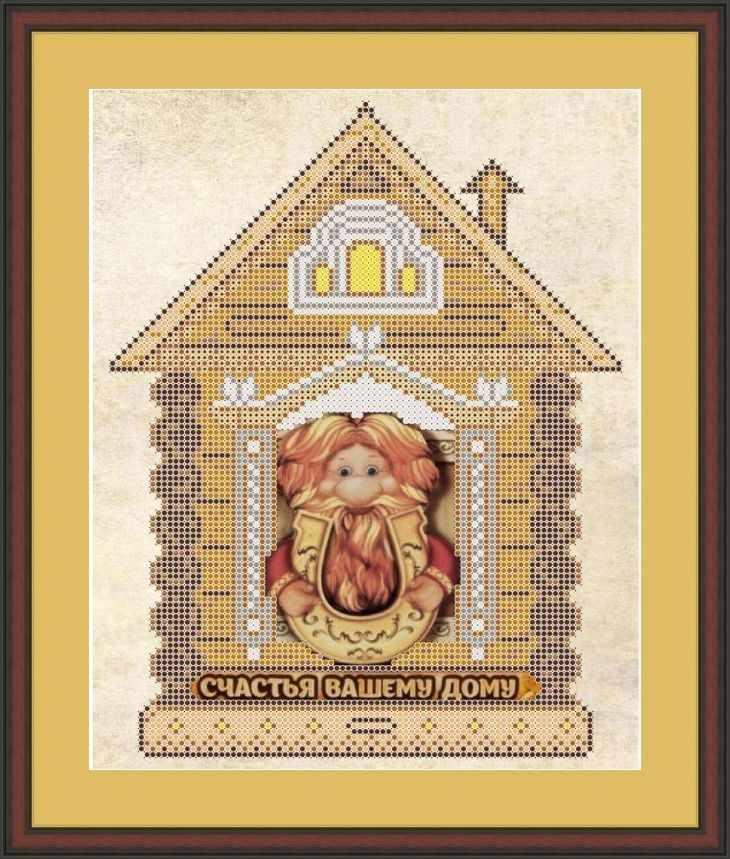 КАЮ3054 Счастья вашему дому - схема для вышивания (Матрёшкина)