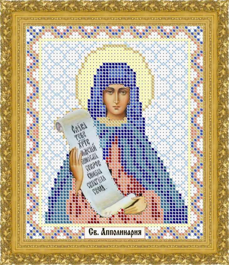 КАЮ1277 Св. Апполинария - схема для вышивания (Матрёшкина)
