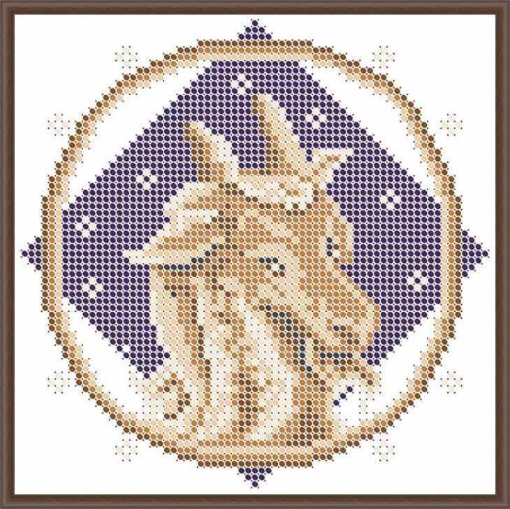 КАЮ3069 Козерог - схема для вышивания (Матрёшкина)