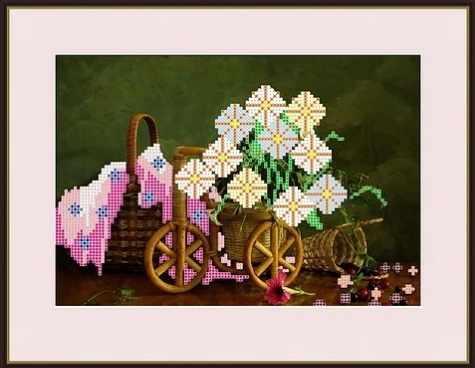 КАЮ3048 Корзинка с цветами - схема для вышивания (Матрёшкина)