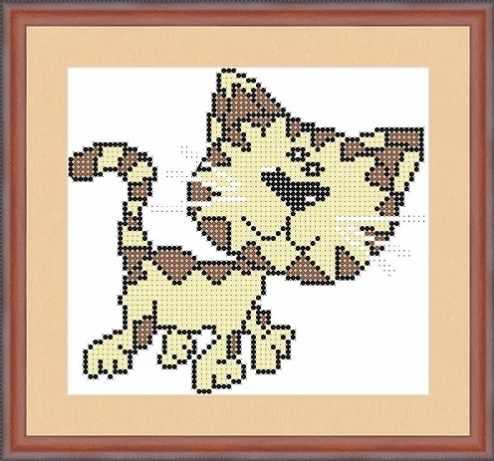 КАЮ5002 Полосатый кот - схема для вышивания (Матрёшкина)