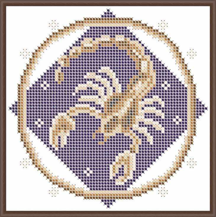 КАЮ3065 Скорпион - схема для вышивания (Матрёшкина)