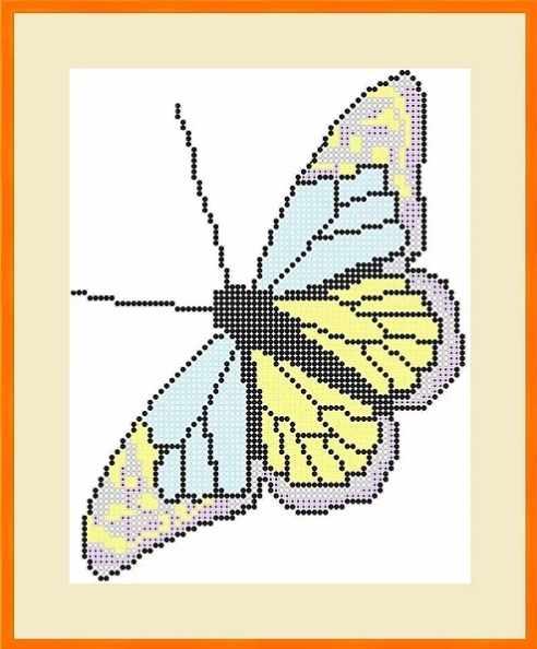 КАЮ5006 Бабочка - схема для вышивания (Матрёшкина)