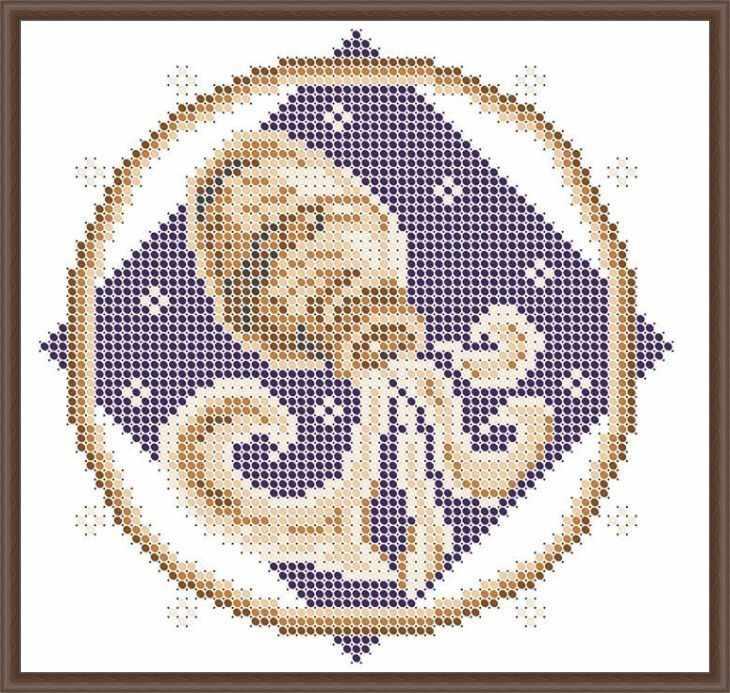 КАЮ3062 Водолей - схема для вышивания (Матрёшкина)