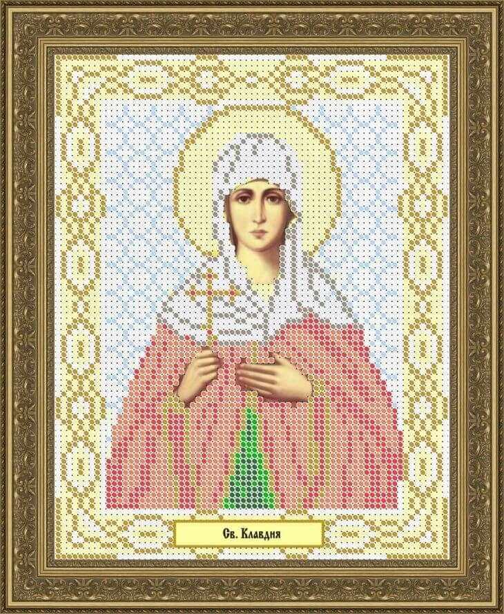 КАЮ1083 Св. Клавдия - схема для вышивания (Матрёшкина)