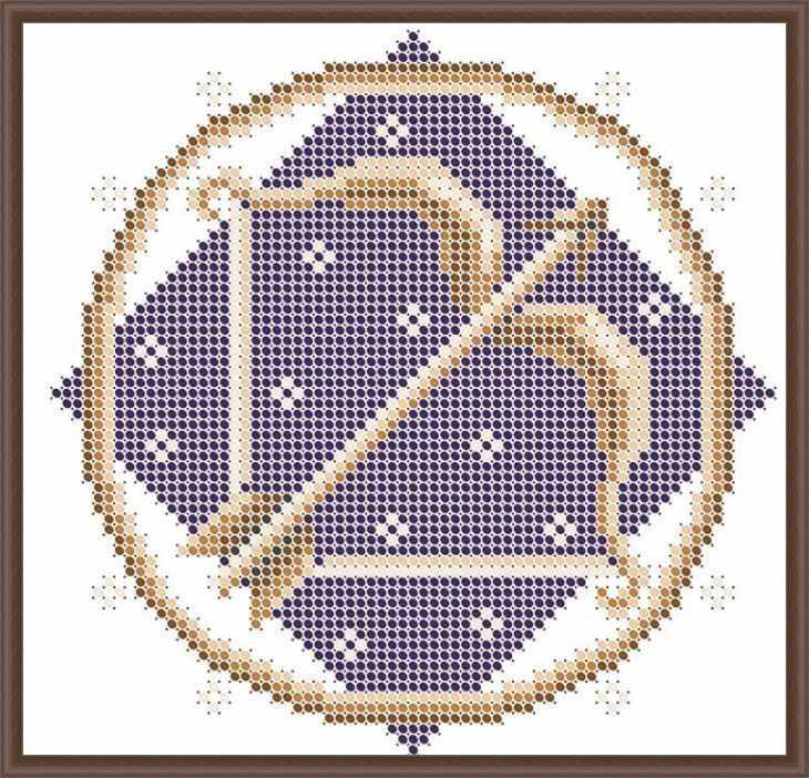 КАЮ3064 Стрелец - схема для вышивания (Матрёшкина)