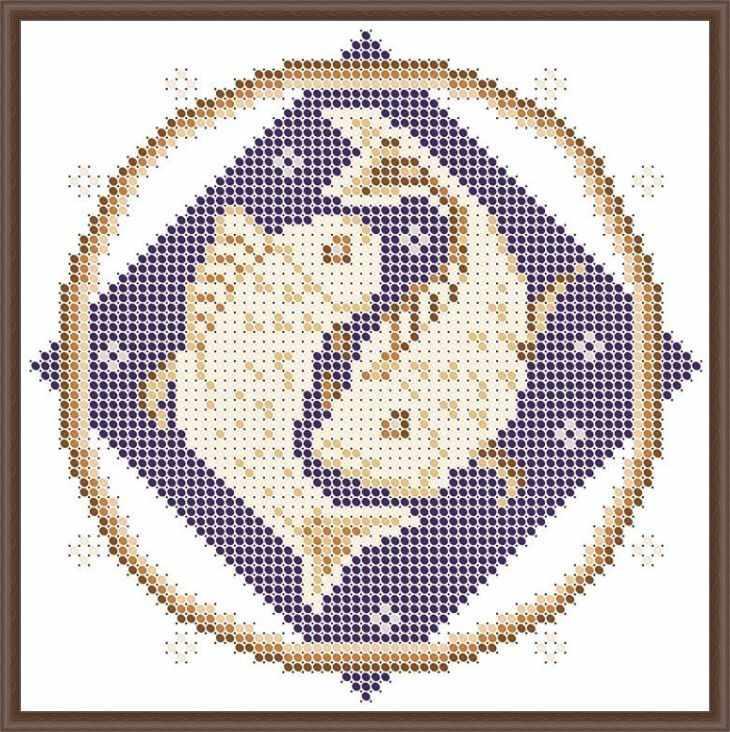КАЮ3066 Рыбы - схема для вышивания (Матрёшкина)