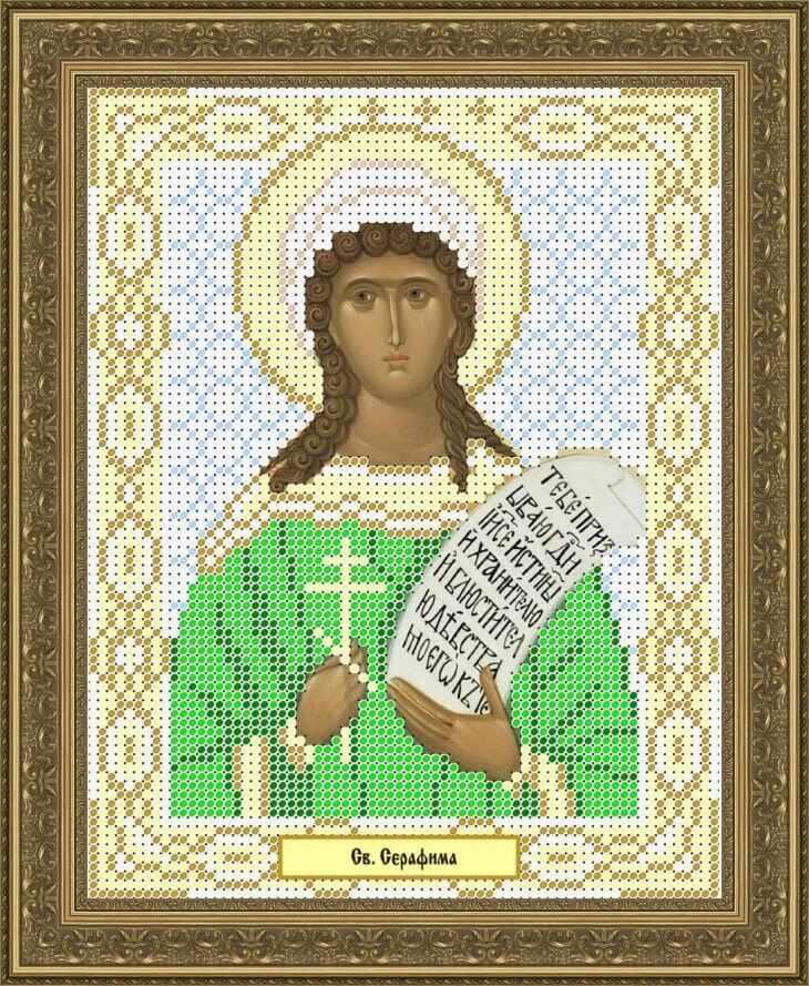 КАЮ1078 Св. Серафима - схема для вышивания (Матрёшкина)