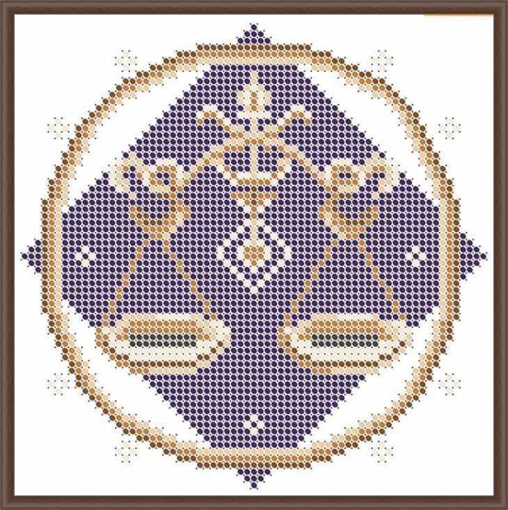 КАЮ3063 Весы - схема для вышивания (Матрёшкина)