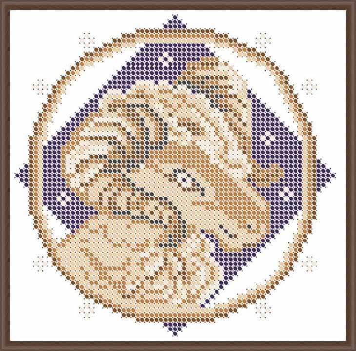 КАЮ3068 Овен - схема для вышивания (Матрёшкина)