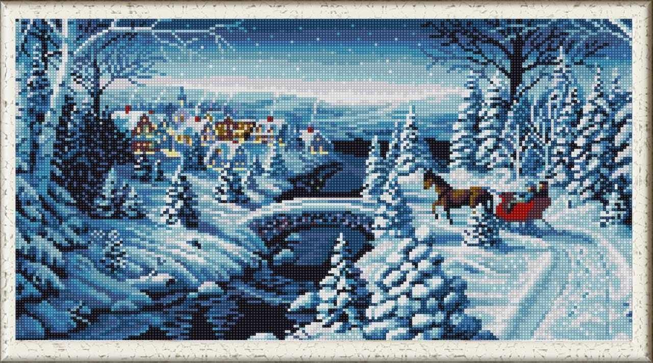 """НИК 1263 """"Зимняя прогулка""""  - схема для вышивания (Конёк)"""